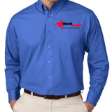 A-Best Vending and Coffee Apparel Poplin Long sleeve with logo - Philadelphia Vending and Coffee Services