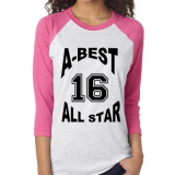 A-Best Vending and Coffee Apparel Raglan with logo - Philadelphia Vending and Coffee Services
